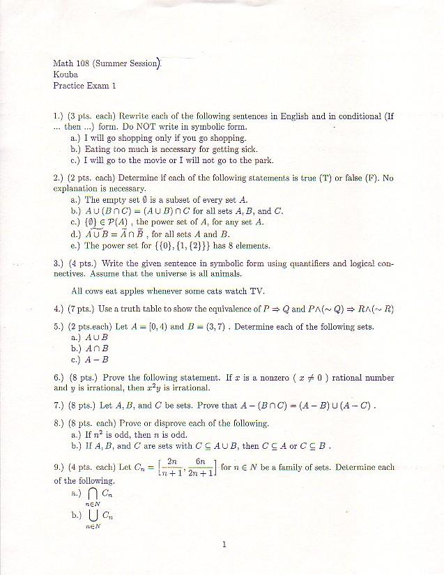 Math 108 Website