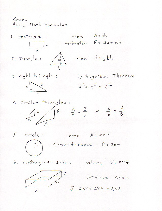 {Math 21A Discussion Sheets Worksheets Supplementary Class – Math Formulas Worksheet
